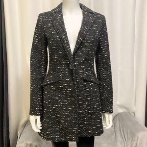 Kenneth Cole NY Fitted Knit Blazer Peacoat Jacket